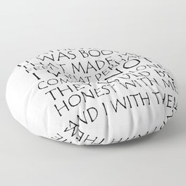 We Live And Breathe Words Floor Pillow