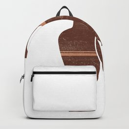 Greek Pottery 23 - Hydria - Terracotta Series - Modern, Contemporary, Minimal Abstract - Burnt Umber Backpack