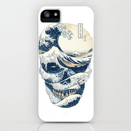The Great Wave Off Skull Japanese Style iPhone Case