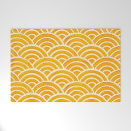 Japanese Seigaiha Wave – Marigold Palette Welcome Mat