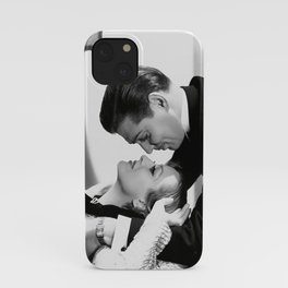 Clark Gable and Joan Crawford, Hollywood portrait black and white photograph / black and white photography iPhone Case