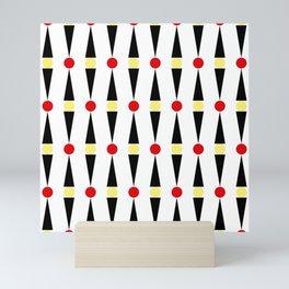 Circles and triangles Mini Art Print
