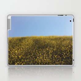 Mustard Flowers Laptop & iPad Skin