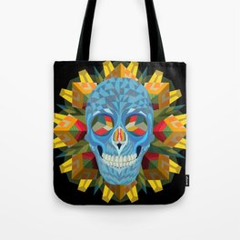 Blue Skull with Mandala Tote Bag