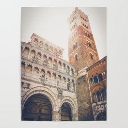 lucques Lucca cathedral san martino duomo Italy tuscany Poster