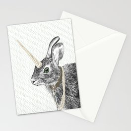 uni-hare All animals are magical Stationery Cards
