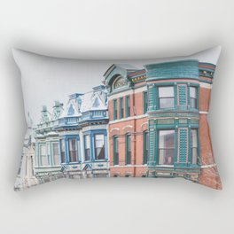 Armitage Avenue Winter - Chicago Photography Rectangular Pillow