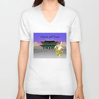seoul V-neck T-shirts featuring Korea's Got Seoul by Tori Kim