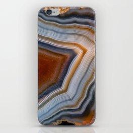 Layered agate geode 3163 iPhone Skin
