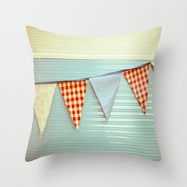 Vintage Caravanning Throw Pillow