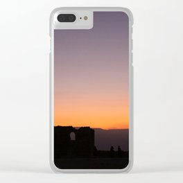 Masada Sunrise Clear iPhone Case