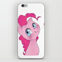 mlp iPhone & iPod Skins featuring Pinkie Pie MLP Cuteness by oouichi