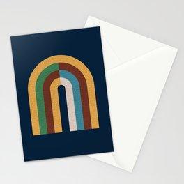 Colorblock rainbow - Mid century modern Stationery Cards