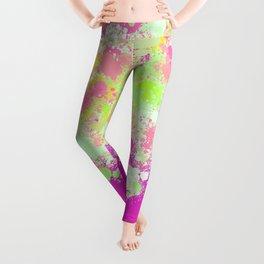 paint splatter on gradient pattern pgoi Leggings
