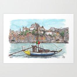 Porto from the Douro River Art Print