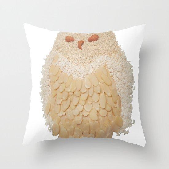 Owl Collage #4 Throw Pillow