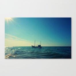 Fishing for Sun Canvas Print