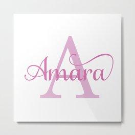 Amara - Girls Name Metal Print