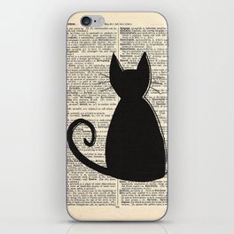 Dictionary Cat iPhone Skin