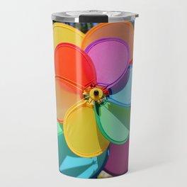 Rainbow Wind Spinner Travel Mug