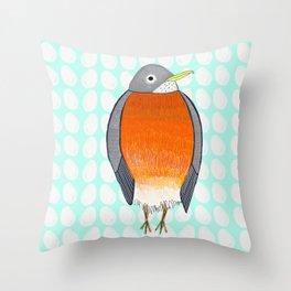 The Little Robin Throw Pillow