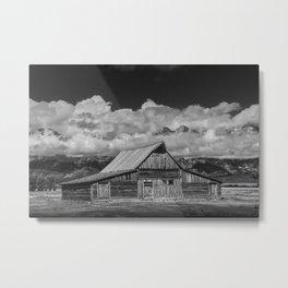 Black & White Photo of the T.A. Moulton Barn on Mormon Row Metal Print