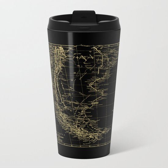 Patagonia - Black and Gold Metal Travel Mug