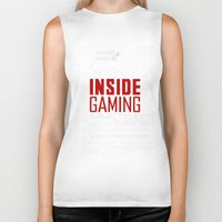inside gaming Biker Tanks featuring Inside Gaming Moments by Jin Smoth