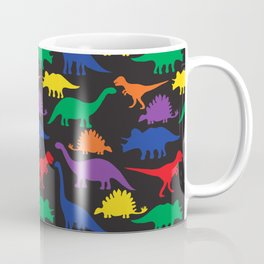 Dinosaurs - Black Coffee Mug