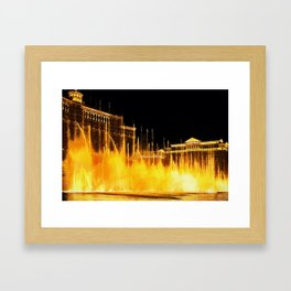 Bellagio Fountains Las Vegas Framed Art Print
