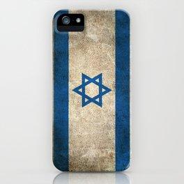 Old and Worn Distressed Vintage Flag of Israel iPhone Case