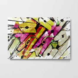 Vintage Clothes Pins with HDR Effect Applied Creating an Abstract Metal Print
