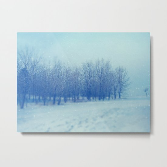 Blue Woodland Metal Print