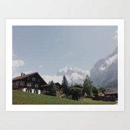 Swiss Neighborhood Art Print