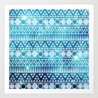 Tribal Ice Art Print