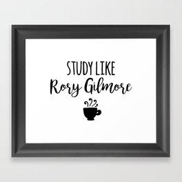 Gilmore Girls - Study like Rory Gilmore Framed Art Print