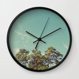Pines & Skies I Wall Clock