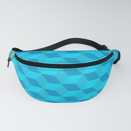 Classic cube/hexagon pattern in Blue Fanny Pack