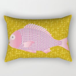 Snapper on Gold-leaf Screen Rectangular Pillow
