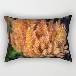 Orange Celosia Rectangular Pillow