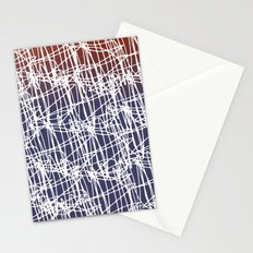 America Red White Blue Abstract Stationery Cards