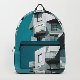 WHITE AND GRAY BUILDING CONCEPT Backpack