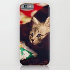 christmas kitten iPhone 6s Slim Case