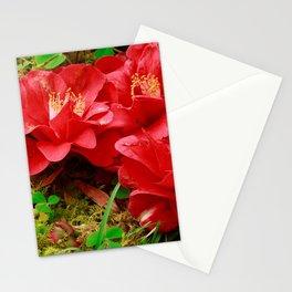 Fallen camellias Stationery Cards