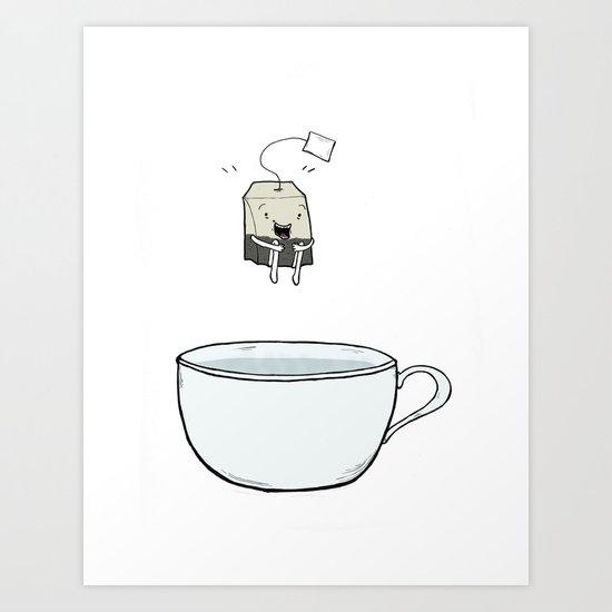 Happy Tea Art Print