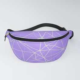 Mosaic Triangles Repeat Seamless Pattern Violet Fanny Pack