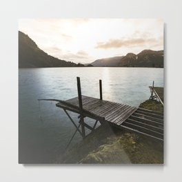 Salmon Sunrise Metal Print