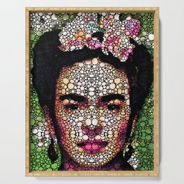 Frida Kahlo Art - Define Beauty Serving Tray