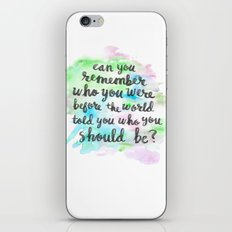 Can you remember who you were...? iPhone & iPod Skin