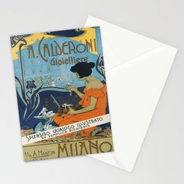 Vintage poster - A. Calderoni Gioielliere Stationery Cards